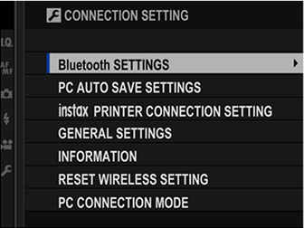 The Setup Menus (CONNECTION SETTING)