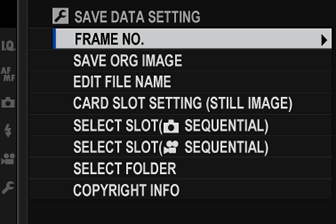 to access file management settings press menuok select the d set up tab and choose save data set up